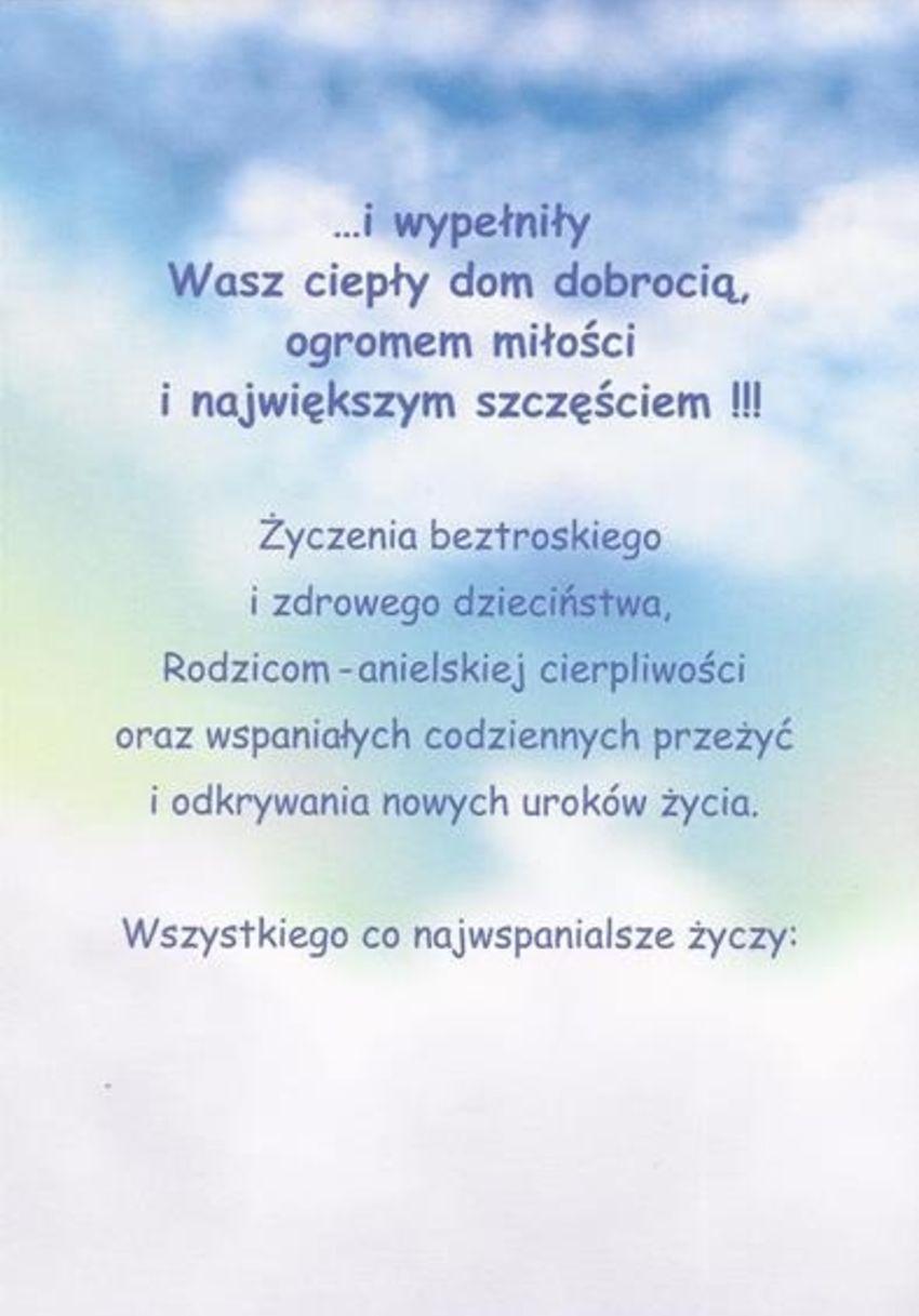 Karnet Okolicznosciowy Z Okazji Narodzin Synka Naszeparty Pl