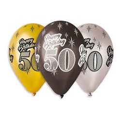 Balony 50 Happy Birthday na 50 urodziny